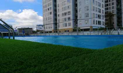 Sau xử lý nước bể bơi